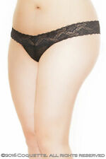 Plus Size 16 to 22 Scalloped lace and Mesh G String by Coquette