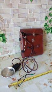 Vintage USSR photo flash camera Film Lighter Луч Luch PHOTOGRAPHIC DARKROOM case