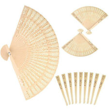 12 Piece Chinese Fans Sandalwood Wooden Openwork Folding Fan Wedding Favors