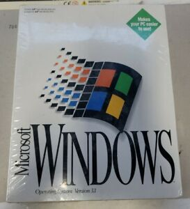 Sealed 1992 Microsoft Windows 3.1 Operating System NEW IN BOX