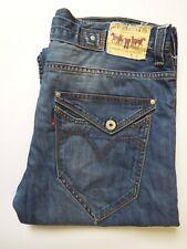 LEVI'S 503 JEANS MEN'S LOOSE STRAIGHT LEG W36 L34 MID BLUE STRAUSS LEVS050
