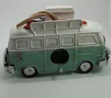 """Vintage Volkswagen Van Bus Teal Hanging Birdhouse Bird House 5""""H #461"""