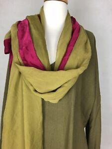 Mes Demoiselles Silk Olive Caftan NWT. $469 Paris + Silk Wrap