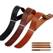 Mens Faux Leather Army Military Watch Strap Band 18/20/22/24mm Black Brown、Pop