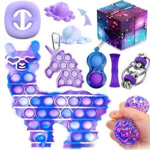 9Pack Relief Hand Toy Fidget Toys Set Tools Bundle Bubble Popit Game ADHD Stress