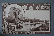 R&L Postcard: Chinese Lantern Design, York, St Mary's Abbey & Tower, W Boyes