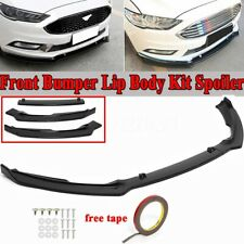 Glossy Black Front Bumper Lip Splitters Body Kit For Ford Fusion Mondeo 2017-18