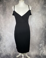 HOMEYEE Fashion Black Off The Shoulder Bodycon Wiggle Dress NWT Size UK 14