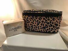 Luminess Air 8x4x4 Leopard Print Canvas Coated Pouch Makeup Travel bag