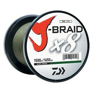 Daiwa J-BRAID Braided DARK GREEN Line 40lb 1650yd 1500 Meter - JB8U40-1500DG