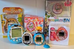 Tamagotchi Lot Of 6. Tama-go, blue white yellow red pink