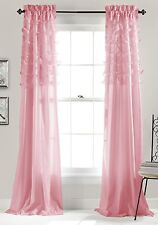 Luxurious Pink Color Window Curtains, 84 by 54-Inch, Set of 2 New.