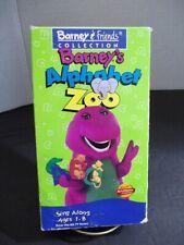 Barney's Alphabet Zoo (VHS, 1994) Slip Sleeve - White Tape