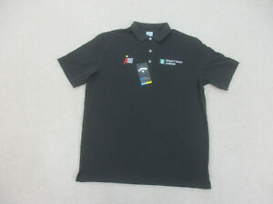 NEW Callaway Polo Shirt Adult Large Black White Golfing Golfer Rugby Mens B00