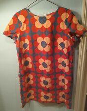 Boden Floral Print Dress UK 18 60s 70s Blue & Red Flower Power Shift Retro