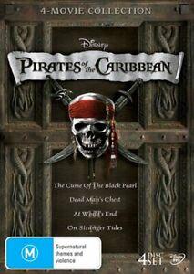 Pirates Of The Caribbean - Quadrilogy Boxset DVD