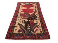 Vintage Afghan Kilim Rug Wool Tribal Handmade Carpet Flatweave Handknotted 3x5