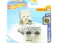 Hotwheels Minecart HW Screen Time 25/250 Short Card 1 64 Scale Sealed New