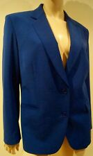 PAUL SMITH Men Only Femme Bleu Laine Vierge Mélange formelle Blazer Jacket 46 UK14