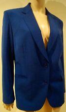 PAUL SMITH MEN ONLY Womens Blue Virgin Wool Blend Formal Blazer Jacket 46 UK14