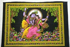 Hindu God Lord Krishna Sequence Art Poster Tapestry Yoga Wall Hanging Decor Home