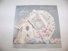 3  Servietten Shabby Chic with Birdhouse Vogelhaus Vintage Design  Napkins