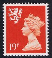 GB QEII MNH Scotland SG S62 19p Bright Orange-Red PP  Regional Machin Definitive