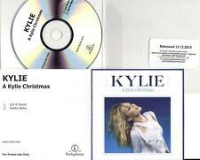 Kylie Minogue RARE 2trk PROMO CD A Kylie Christmas (Let It Snow / Santa Baby)
