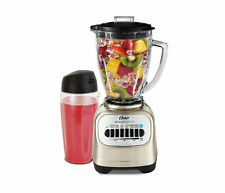 Oster Classic Series Blender with Travel Smoothie Cup, Chrome - New