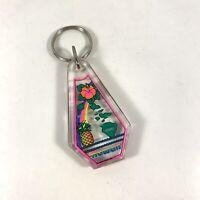 Vintage Colorful Hawaii Islands Plastic Souvenir Keychain