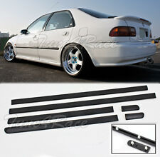 For 92-95 Honda Civic 4Dr Sedan Thin Side Molding Moulding JDM Trim Panels Clips