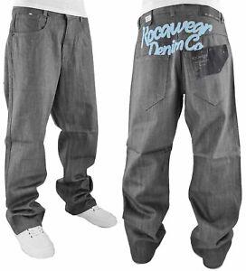 Rocawear Men's Retro Old Skool Baggy Hip Hop Jeans, New Time Is Money Era ROC101