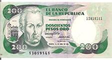 COLOMBIA, 200 PESOS ORO, 1991, UNC