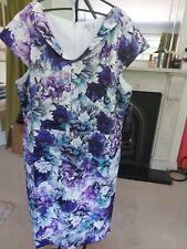 Tahari ASL Plus Size Pronted Scuba Sheath Dress UK 26 W US 22 W Colur White /...