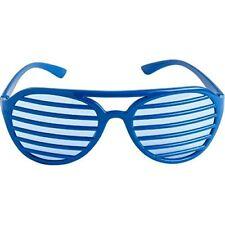 Fun Shades Shutter Shades Slot Glasses, Blue, 1 Pair