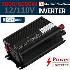 Peak Power 6000W DC 12V AC 220V Car Converter Power Inverter Electronic V#
