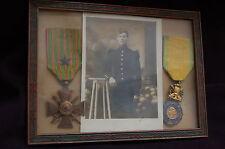 CROIX DE GUERRE 1914 & MEDAILLE MILITAIRE-58° INFANTERIE-PHOTO SOLDAT 1914/1918