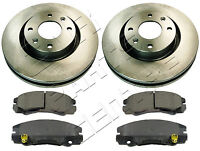 FOR VAUXHALL FRONTERA 280mm FRONT BRAKE DISCS & FRONT MINTEX PADS 1998-2004