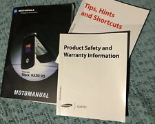 MotoManual Motorola Razr V3 Owner's Manual Tips Manual Product Safety Manual New