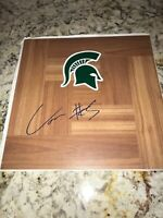 Cassius Winston Autographed Floorboard Michigan State Spartains Basketball NCAA