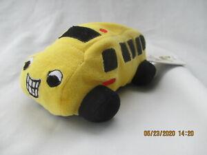 """GANZ  Bennie the Bus Stuffed School Bus Soft Toy 7"""" long dated 1997"""