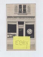 (AP/A19) Carte photo rue Grande Evreux atelier d'horlogerie A.Robert