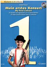 Klarinette + Klavier Noten : Mein erstes Konzert - m CD - leichte Vortragsstücke