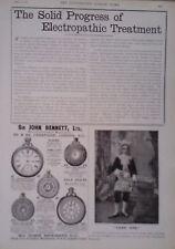 1892 ADVERT MEDICAL BATTERY COMPANY-SIR JOHN BENNETT Ltd-BEECHAM PILLS-THE KODAK