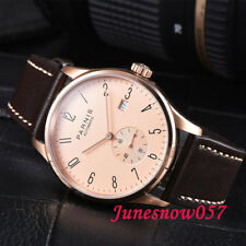 42 mm parnis Men's Watch Concise Style Gold Case Seagull mouvement automatique 956