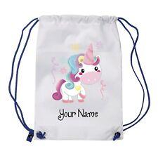 Personalised Unicorn Gym Bag , PE, Sports,Swimming Bag, School, Dance,Girls