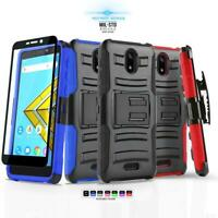 for AT&T RADIANT CORE, [Refined Series] Phone Case Cover & Belt Clip Holster