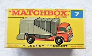 Vintage Matchbox Lesney Ford Refuse Truck No. 7 ORIGINAL BOX ONLY