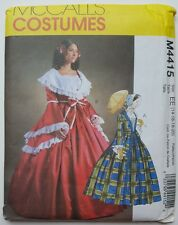 McCalls M4415 Colonial Top Skirt Costume Sew Pattern Plus Size 14 16 18 20
