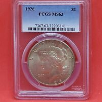 1926 Peace Silver $1 Dollar PCGS MS63 Graded Certified Better Date Free Ship